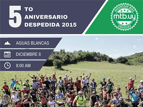 5to aniversario de Mountain Bike Uruguay y despedida del año 2015