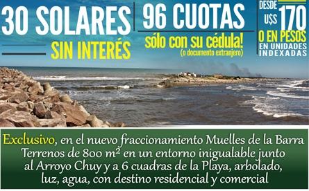 24 de enero: Remate de solares en Barra del Chuy!