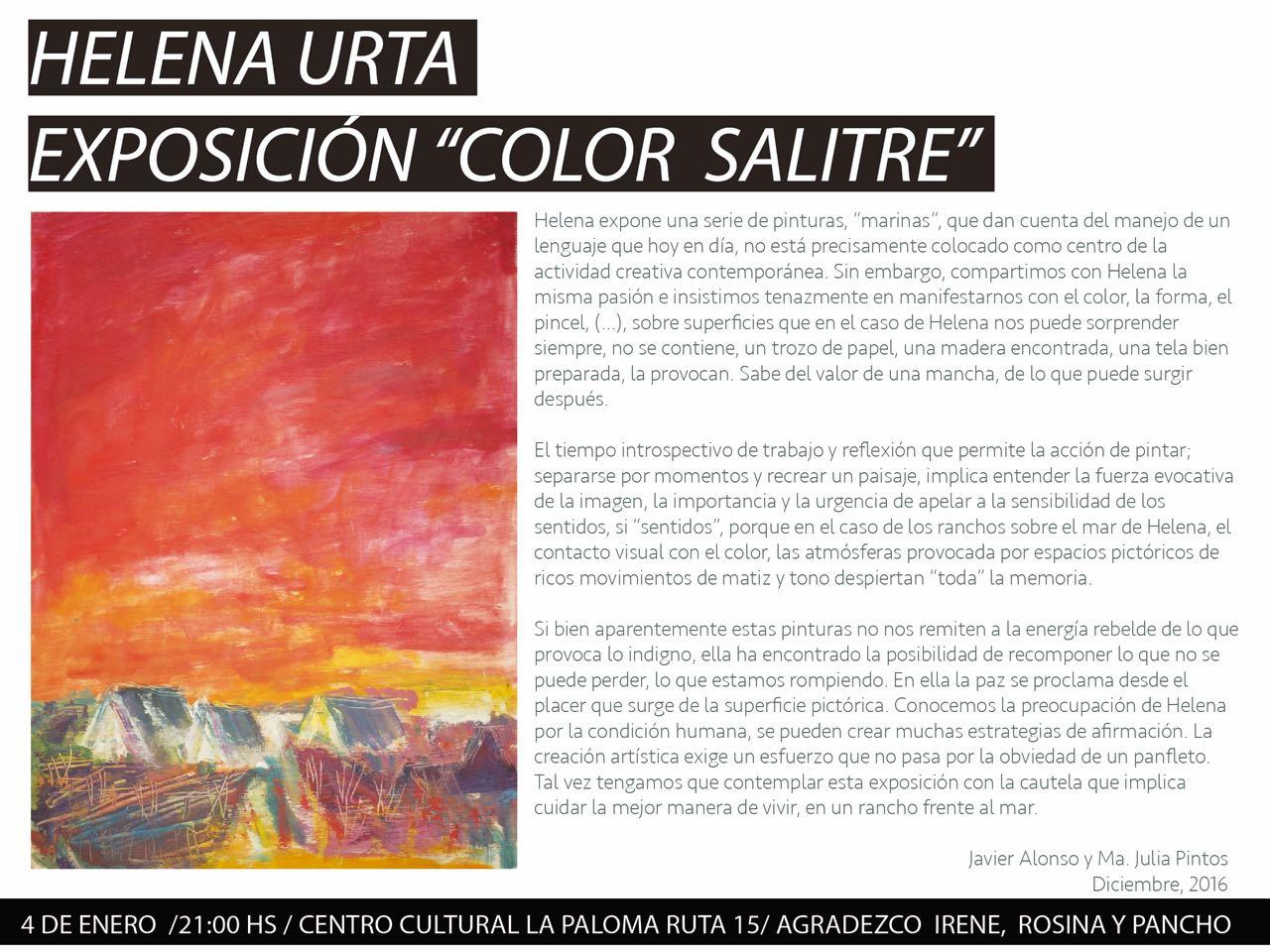 Helena Urta - Exposición