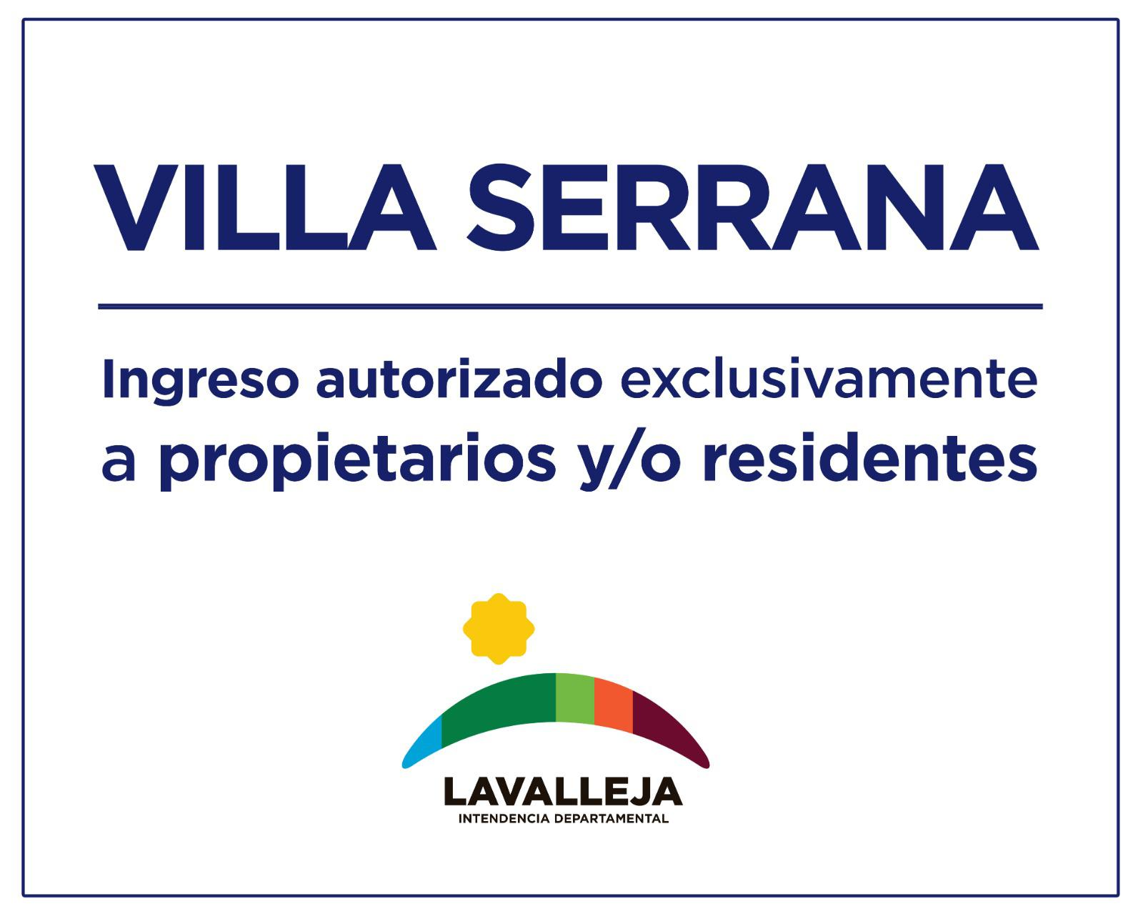 CORONAVIRUS - Acceso a Villa Serrana y Marco de los Reyes